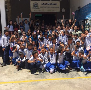 """Beyond classroom and out of HK, a different learning experience."" 29 CC students completed a 7 days volunteer service tour in Phnom Penh, Cambodia last month. They reconstructed some school roads and built a wooden house for a family. With a lot of effort and sweated all the times, this is such an unforgettable and meaningful experience."